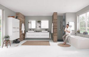 Für das Bad bietet die Küchenindustrie ebenfalls harmonische Lösungen an. (Foto: AMK)
